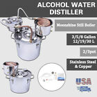 18/30L 3Pot Home Alcohol Distiller Brewing Kit Moonshine Still Stainless In US