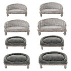 Dog Cat Pet Bed Sofa Wicker Rattan Cushion Hand Woven Sleeping Nest Couch