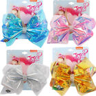 "8"" JOJO SIWA SOLID plastic hair bows with Alligator clip girls kids gift bowknot"