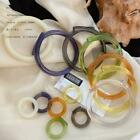Solid Color Acrylic Resin Bracelet Geometric Irregular Jewelry Ring Clear M6r4