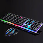Colorful Mouse Gaming Keyboard LED Illuminated Backlit USB Wired & Wireless Mice
