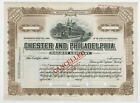 PA. Chester & Philadelphia Railway Co 1900-20 <100 Shrs Specimen Stock Cert SBN