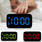Large LED Digital Alarm Snooze Clock Voice Control Time Display 5 Screen