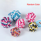 Dog toys Pets Rope Ball Bite Ball Colorful Cotton Pet Puppy Chew Toys JE