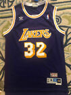 Earvin Magic Johnson #32 Los Angeles Lakers Throwback Men's Sewn PURPLE Jersey on eBay