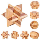 Wooden Kongming Lock Brain Teaser Puzzle Kids Adults Educational Game Toy Sanw