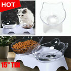 15°Tilt Removable Pet Food Bowls Dog Cat Feeding Water Bowl With Holder Elevated