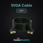 SVGA Computer VGA Cable Monitor Cable Male to Male M/M  TV Cord HDTV 3-100FT Lot