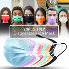Kyпить 50PCS 3PLY Protective Face Mask Disposable Non Medical Surgical Dust Mouth Cover на еВаy.соm