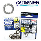 Owner Solid Unbreakable Stainless Rings Fishing Terminal Tackle 5195 Select Size