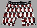 ODD STAND OUT Pacino Rectangles SCARFACE Movie Red Black White Boxers Men's NWT