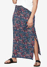 ellos Women's Plus Size Knit Maxi Skirt