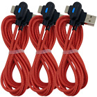 3Pack 3Ft 6Ft 90 Degree Fast USB Type C Samsung Charger Charging Cable Cord Lot