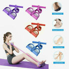 4-Tubes Yoga Pull Rope Elastic Sit-up Fitness Foot Pedal Resistance Exercise image
