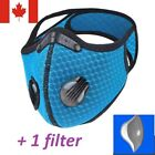 Sport mask , 2 breathing valves [1 mask + 1 filter]- Original version- Reusable