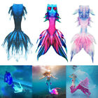 New Kids Girls Boys Women Men Mermaid Tail Luxurious Swimming Tail with Monofin