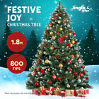 Jingle Jollys Christmas Tree 1.8/2.1/2.4/2.7M Xmas Home Decorations Green Snowy