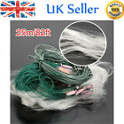 New Lixada 25m 3 Layers Monofilament Fishing Fish Gill Net with Float UK E3H7