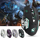 X8 Wireless Gaming Mouse Mute Rechargeable LED Backlit 2400DPI Optical Mice B2AE