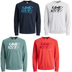 Jack & Jones Sweater Mens Chest Logo Print Long Sleeve Crew Neck Core Sweatshirt