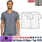 Med Couture Scrub ROTHWEAR Men's Cadence One Pocket Comfortable Fit Top 7478