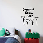 Dreams Grow Here Quote Vinyl Wall Art Decor Sticker For Home Room Decals