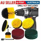 4-23X Drill Brushes Set Power Scrubber Cleaning Disc Kit Combo Scrub Tub Cleaner