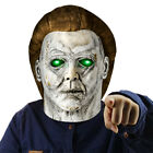 Halloween Horror Michael Myers Killer LED Mask Cosplay Scary Latex Costume