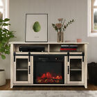 TV Stand with Electric Fireplace Included,Media Storage Television Console