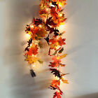 Halloween Maple Leaves Led Light Autumn Fall Garland Hanging Plant Home Decor