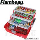 Flambeau 6383TB 3-Tray Hard Tackle Box Red Fishing Storage Organizer