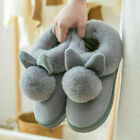 Women Bunny Rabbit Plush Winter Warm Home Slippers Slip On Soft Indoor Shoes