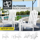 Gardeon Outdoor Chairs Table Set Beach Chair Adirondack Lounge Patio Furniture