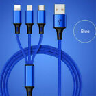 USB 3 in 1 Charging Cable Universal Multi Function Fast Charger Cell Phone Cord