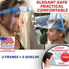 ADJUSTABLE FACE SHIELD WITH CLEAR FLIP-UP VISOR, REUSABLE FACE SHIELD