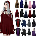Womens Vintage Gothic Punk Lolita Steampunk Swing Dress Clubwear Party Gown Hot