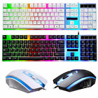 Gaming Keyboard And Mouse Combo Mechanical Feel Multi-color Rgb Wired Usb