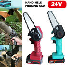 24V 550W Rechargeable Electric Motor Saw Mini Wood Cutting Chainsaw Kit Handheld