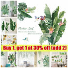 Green Plant Wall Stickers Tropical Leaves Pvc Decal Nursery Art Mural Home Decor