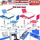 Height Adjustable Students Study Desk and Chair Set Kids Home Study Table Study
