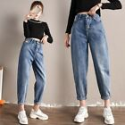 Lady Denim Jeans Baggy Pants Harem Style Wide Leg High Waist Retro Casual Loose