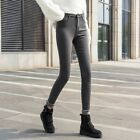 Lady Denim Pants Jeans Leggings Fleece Lined Trousers Slim High Waist Thick Warm