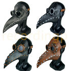 Steampunk Plague Doctor Mask Bird Long Mouth Beak PU Latex for Adult Halloween