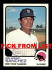 1973 Topps #2-260 EX/EX-MT Pick From List All PICTURED