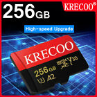 256GB Micro Memory Card 4K 275MB/s Fast Flash TF Card with Adapter Fr Car Camera