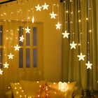 LED Xmas Star Shaped String Fairy Lights Wedding Christmas Curtain Light Decor