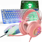 US PS4 Wired Gaming Keyboard and Mouse Headset Mice Pad Set for Xbox Pc Computer