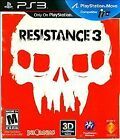 Resistance 3 (Sony PlayStation 3 Complete Very Good PS3 NR Lot