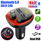 bluetooth in car kit wireless fm transmitter dual usb charger adapter mp3 player