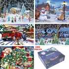 1000 Piece Jigsaw Puzzle Children-Adult Christmas Snowman Puzzles Xmas Cities UK